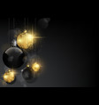background with black and golden baubles vector image vector image