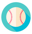 Baseball Ball Circle Icon vector image