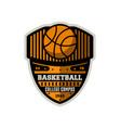 basketball sporty campus vintage label vector image vector image