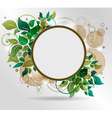 beautiful background with flora vector image vector image
