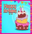 birthday card design birthday present vector image