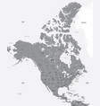 black and white map of the usa and canada vector image