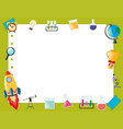 border template with school items vector image vector image