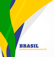 brazil summer games vector image