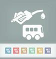 bus fuel icon vector image vector image