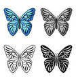 butterfly icon in cartoon style isolated on white vector image vector image