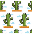 cactus egyptian desert plant seamless pattern vector image vector image