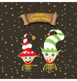 cartoon cute merry Christmas elf vector image