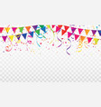 celebration background template with confetti vector image vector image