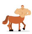 Cheerful young Centaur mythical creature Half vector image