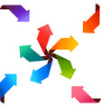 colorful arrows vector image vector image