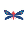 colorful flying insect butterfly top view vector image vector image