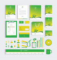 corporate identity design template with green vector image vector image