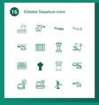 departure icons vector image vector image