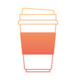 disposable cup in degraded orange to magenta color vector image