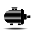 electric motor icon vector image vector image