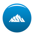 extreme mountain icon blue vector image vector image