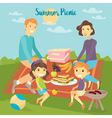 Family Weekend Happy Family Barbecue Party vector image vector image