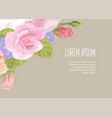 floristic elements of corporate identity on kraft vector image vector image