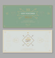 Gift certificate voucher coupon template hipster vector image