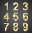 Gold Number Set vector image vector image