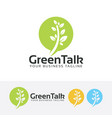 green talk logo design vector image