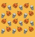 halloween pattern background vector image