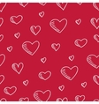 Hand-drawn seamless pattern with hearts vector image