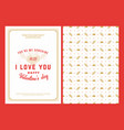 happy valentines day typography greeting card vector image vector image