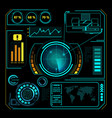 hud interface radar composition vector image