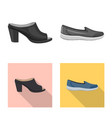 isolated object of footwear and woman icon vector image vector image