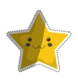 Isolated star symbol vector image vector image