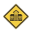 Isolated yellow road sign design vector image