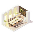 isometric conference room vector image vector image