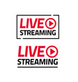 live streaming icon sticker isolated set vector image vector image