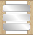 metal plaques vector image vector image