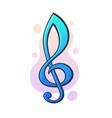 musical symbol treble clef graphic design vector image