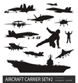 Naval aviation silhouettes vector image vector image