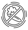 no smoking cigar icon outline style vector image