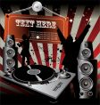 party Dj retro music vector image vector image