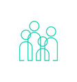 people community team family outline logo icon vector image
