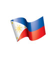 philippines flag on a white vector image vector image