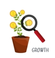 Profitable growth design vector image