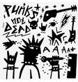 punk musician doodles vector image