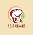 restaurant logo design idea vector image
