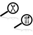 Restaurant search vector image vector image