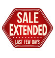 sale extended label or sticker vector image