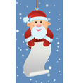 santa ornament holding letter vector image vector image