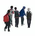Schoolboys vector image vector image