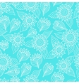 Seamless floral pattern with lace ornament vector image